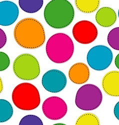 Colorful seamless pattern with round shapes vector