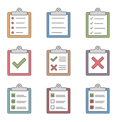 Check List Icons vector image