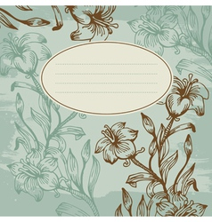Floral background vintage vector