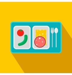Airplane lunch flat icon vector