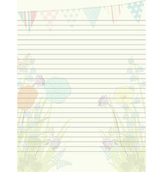 Spring paper sheet vector