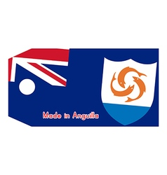 Anguilla flag on price tag vector