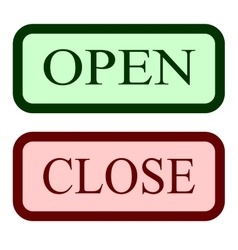 Set open and close sign 1404 vector
