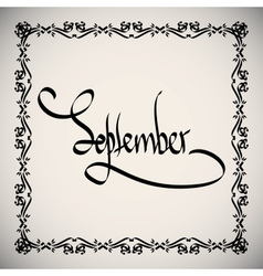 Calligraphic elements month - black design vintage vector