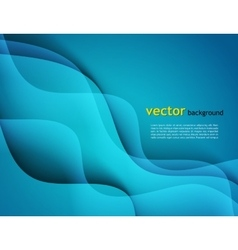 Abstract template design with colorful blue vector image