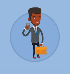 Businessman making selfie vector