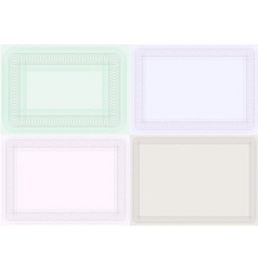 Certificate backgrounds vector