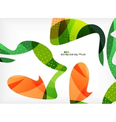 Colorful abstract flowing shapes vector image vector image