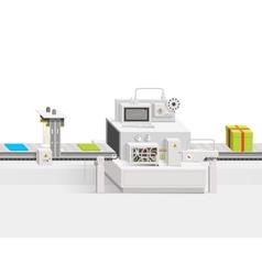 Conveyor production vector image vector image