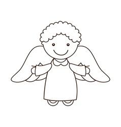 cute angel vector image vector image