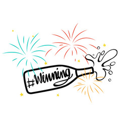 Expression for phrase winning with champagne vector