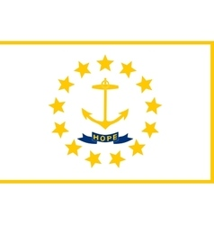 Flag of rhode island correct size colors vector