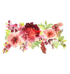 floral for greeting cards vector image
