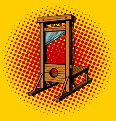 guillotine pop art vector image vector image