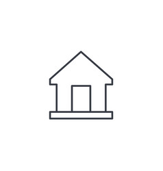 Home house thin line icon linear symbol vector