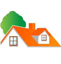 House roof logo for real estate companies vector