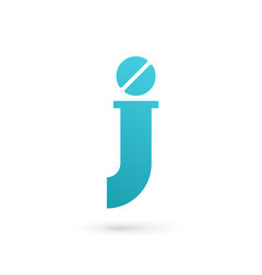Letter j pill logo icon design template elements vector