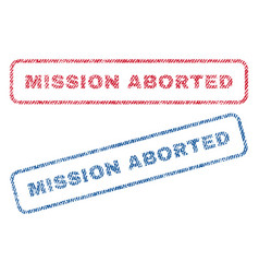 Mission aborted textile stamps vector