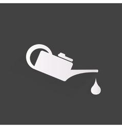 Oil lubricator icon vector