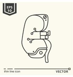 One icon artificial kidney vector