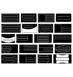 School notebook labels vector