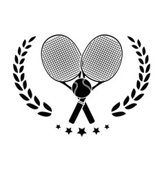 Tennis rackets equipment vector