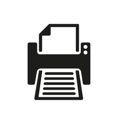 The printer icon printing symbol flat vector