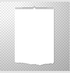 Wall handing blank calendar template vertical vector