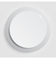 White circle empty banner on white background vector