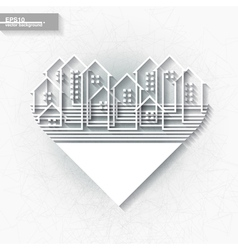White infographic template with abstract city vector image