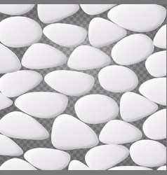 White pebble natural realistic 3d stones vector