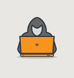 Hacker line icon vector