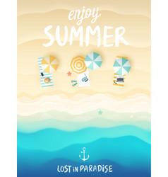 Tropical beach poster vector