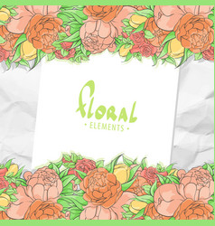 floral card template vector image