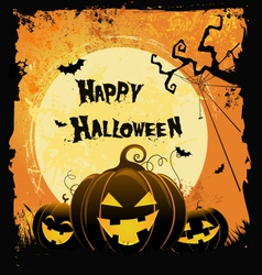 Spooky halloween card vector