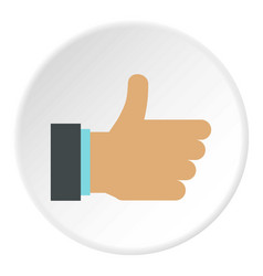 Gesture approval icon circle vector
