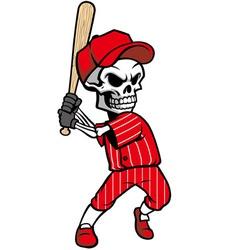 skull baseball mascot vector image