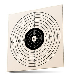 3d paper rifle target vector