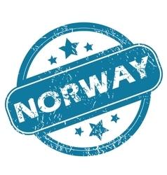 Norway round stamp vector