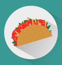 Taco colorful round icon vector