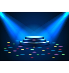 Empty stage with spotlights on stage vector