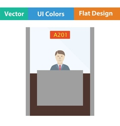 Bank clerk icon vector