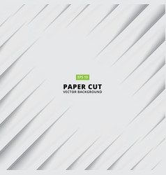 Abstract siagonal paper cut with shade light vector
