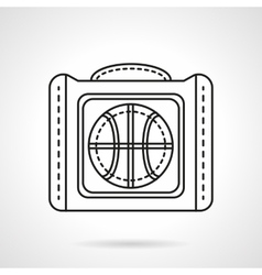 Bag for basketball flat line icon vector image vector image