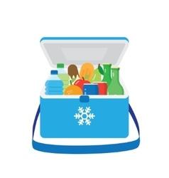 Bag refrigerator icon cooler symbol vector