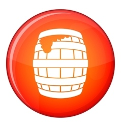 Barrel of beer icon flat style vector