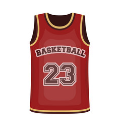 basketball jerseybasketball single icon in vector image