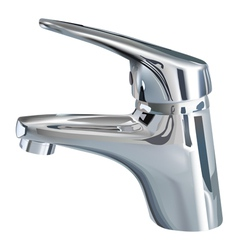 bathroom tap vector image vector image
