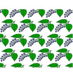 Bird cherry pattern vector