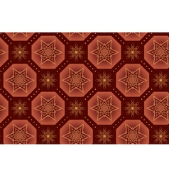 Brown geometrical texture with stars vector